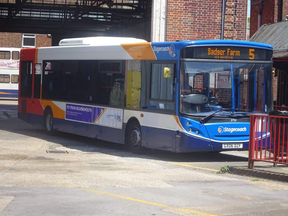 Number 5 bus to Badger Farm