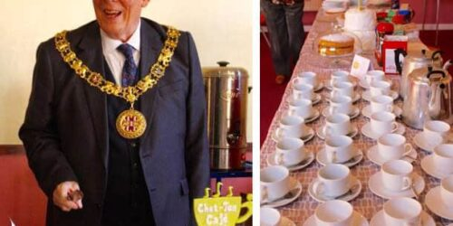 The Mayor of Winchester at the first Chat Tea Café
